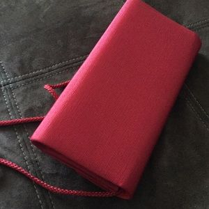 Bags - Pursuits Red Clutch